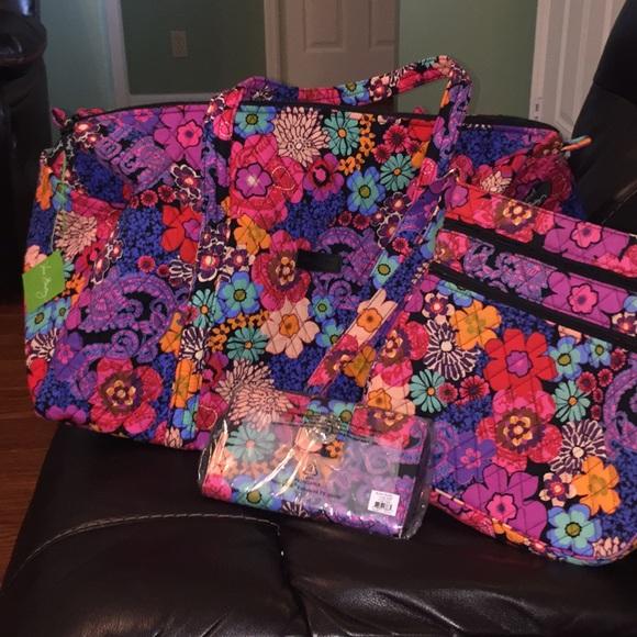361d8993e7 Vera Bradley Travel Set! Hipster Wallet Duffel!